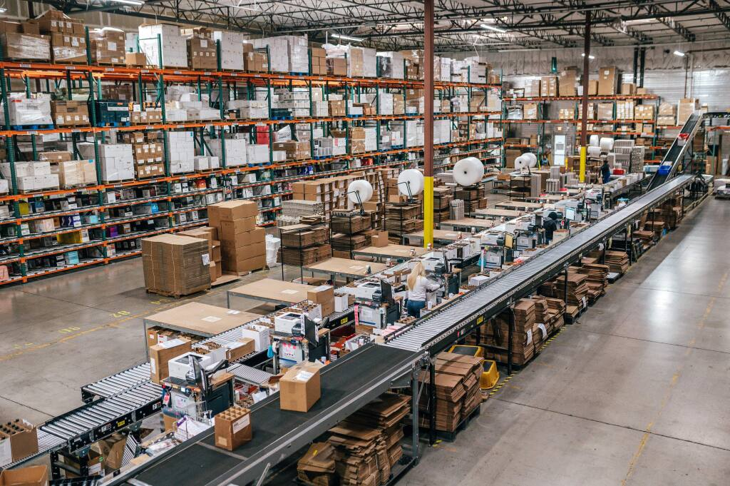 Wineshipping's 300,000-square-foot Napa warehouse, one of eight the company operated nationwide as of March 2020. (courtesy photo)