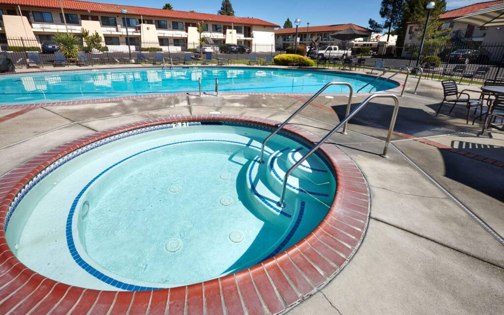 The Sandman Hotel in Santa Rosa has undergone a $3.5 million six-month renovation of its property, including upgrading its pool area. (COURTESY OF SANDMAN HOTEL)