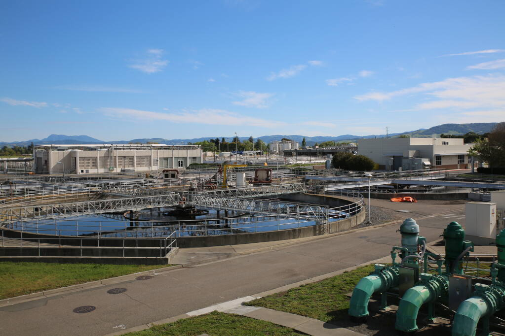 The regional water treatment plant is located on Llano Road in Santa Rosa. Photo courtesy of the city of Santa Rosa's Water Reuse department
