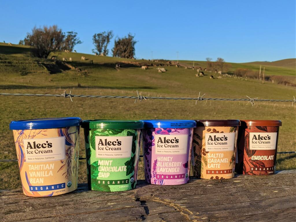 Alec's Ice Cream released its first five flavors recently. (Houston Porter/for the Argus-Courier)