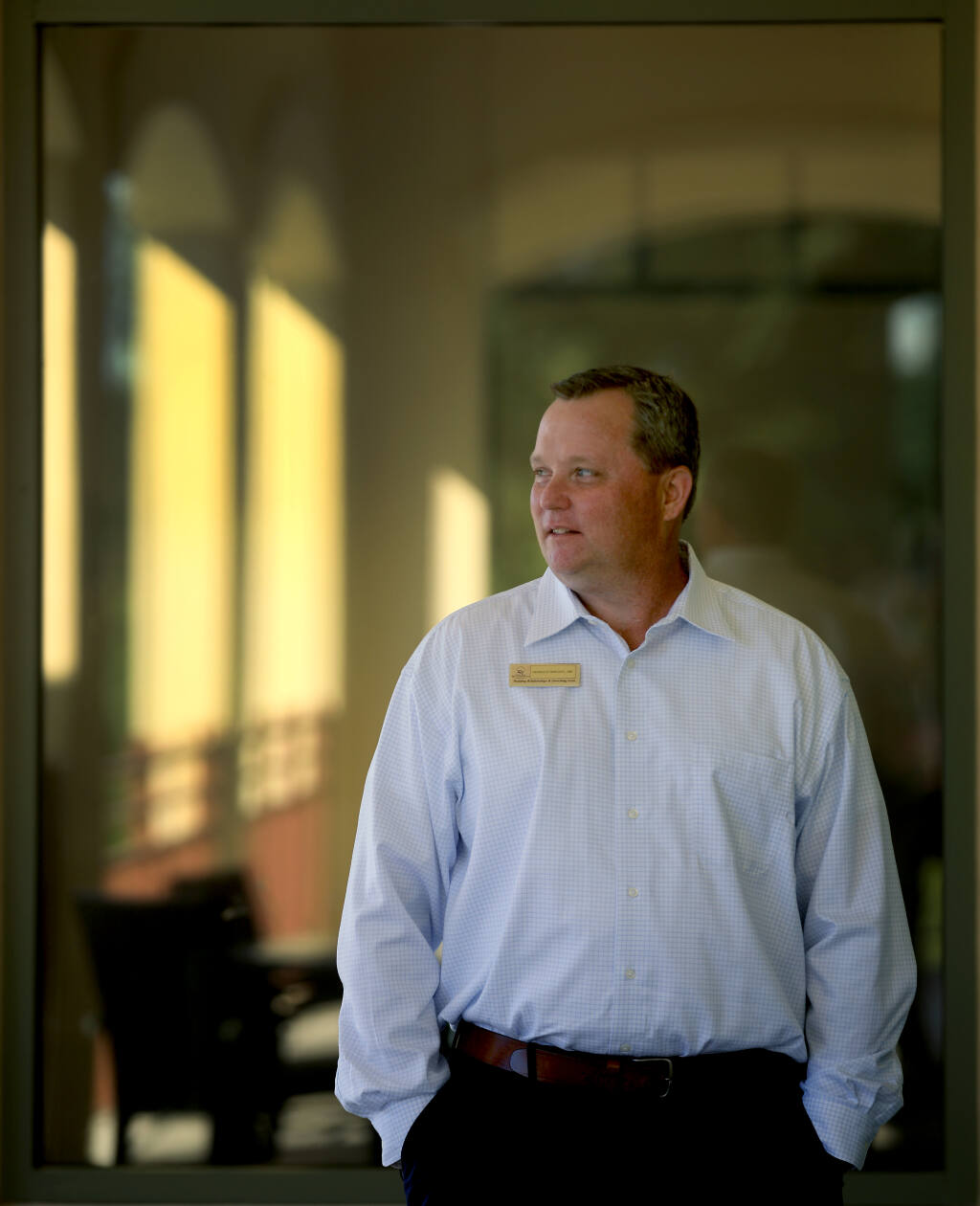Dennis Stankovic, the new general manager of the Santa Rosa Golf & Country Club, spent five weeks on a ventilator after contracting COVID-19. Three separate times doctors told his family he was at the end of his life. Photo taken Thursday, June 10, 2021. (Kent Porter / The Press Democrat) 2021