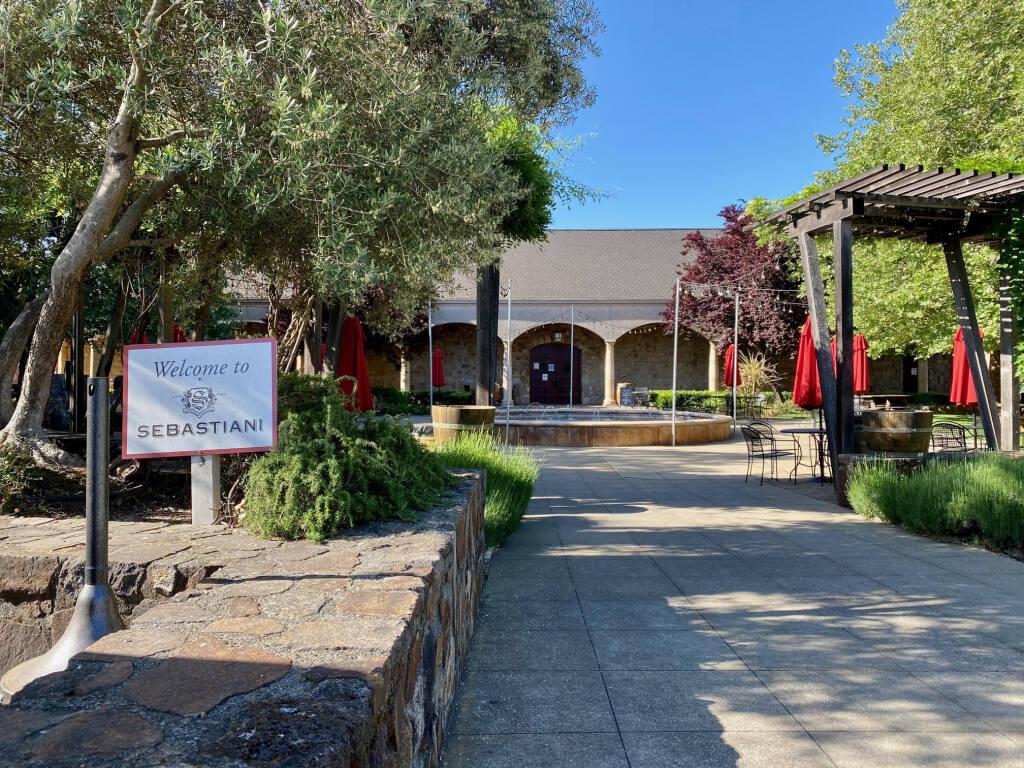 The entrance to the Sebastiani Winery tasting room in Sonoma. (Photo: Lorna Sheridan).
