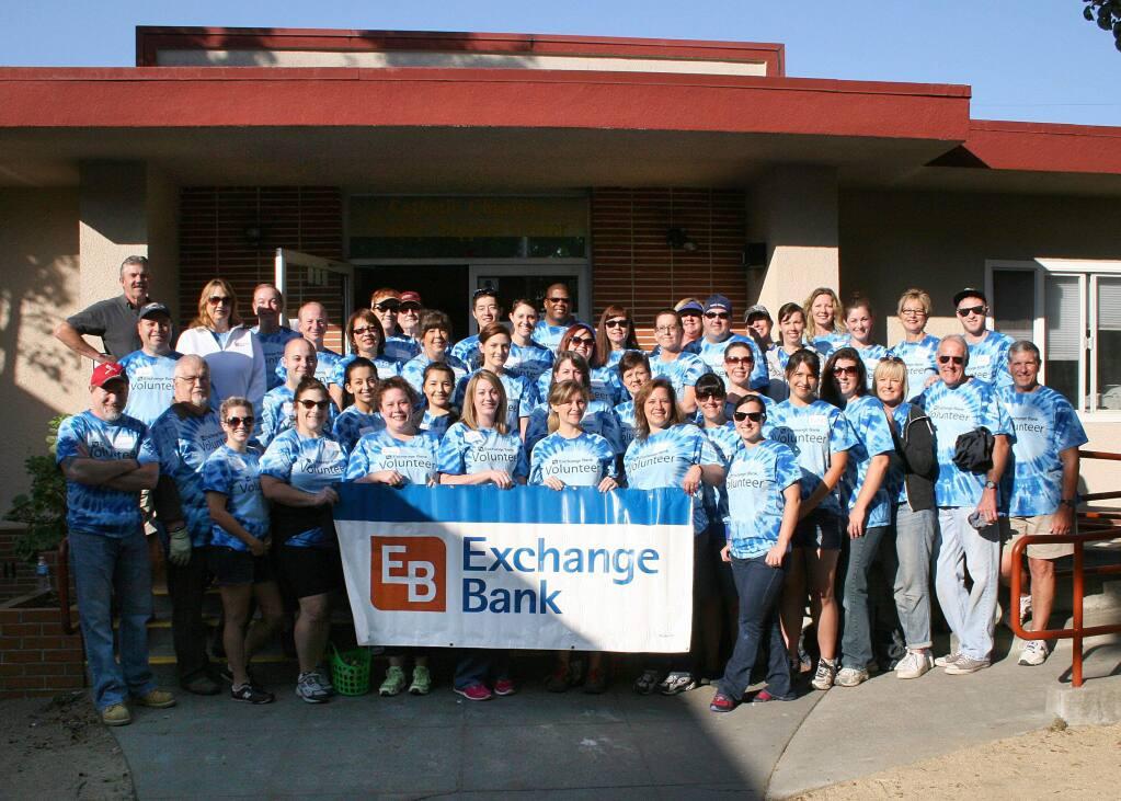 Exchange Bank volunteer team