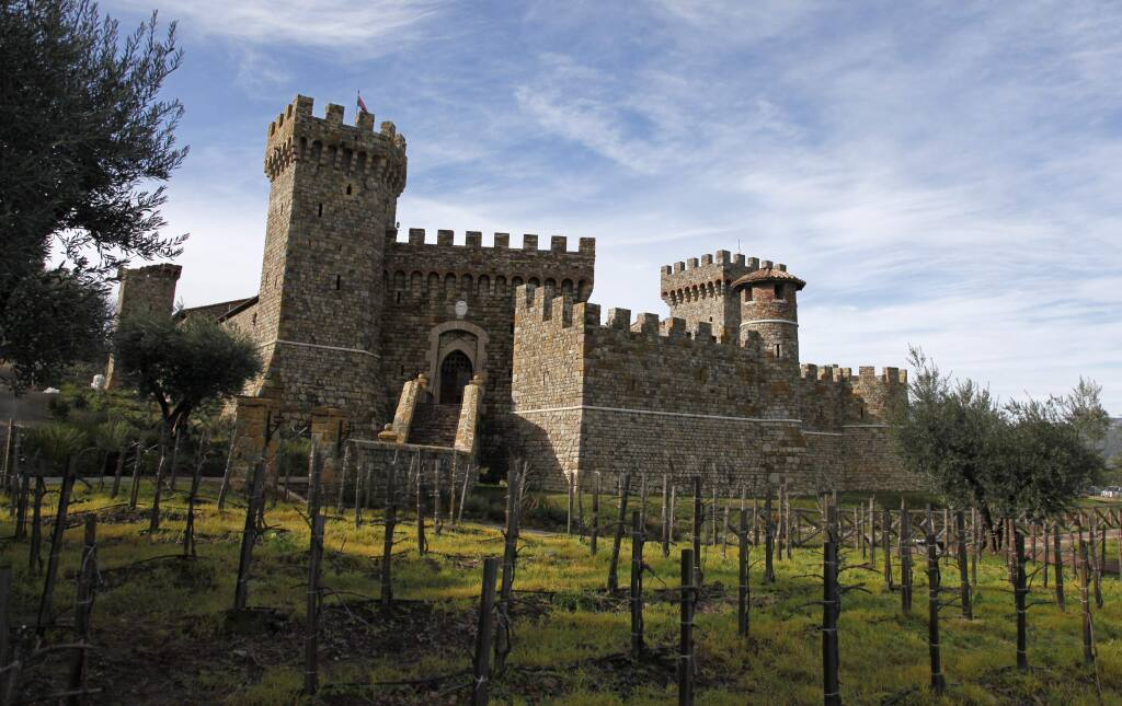 FILE - Shown is the Castello di Amorosa, a 121,000 square foot replica of a 13th-century Tuscan castle in Calistoga in 2010. The winery was damaged by fire on Wednesday, May 18, 2016