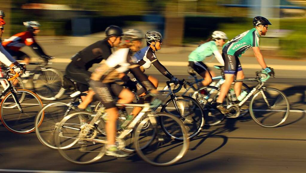 Thousands of bike riders participated in Levi's GranFondo through west Sonoma County on Saturday, October 4, 2014. (JOHN BURGESS/ PD)