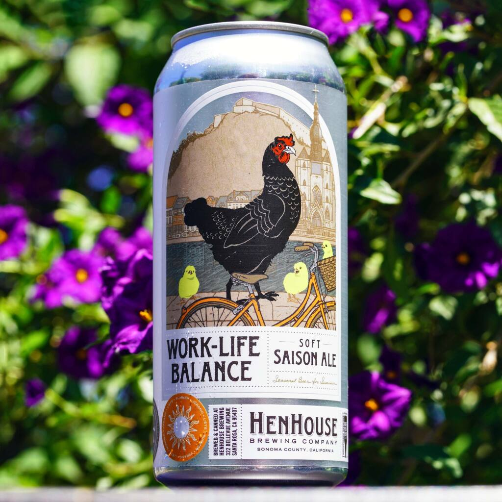 HenHouse's Work Life Balance Soft Saison nabbed a silver medal in the Classic Saison category this year, a first for the Sonoma County brewers. (COURTESY OF HENHOUSE BREWING CO.)