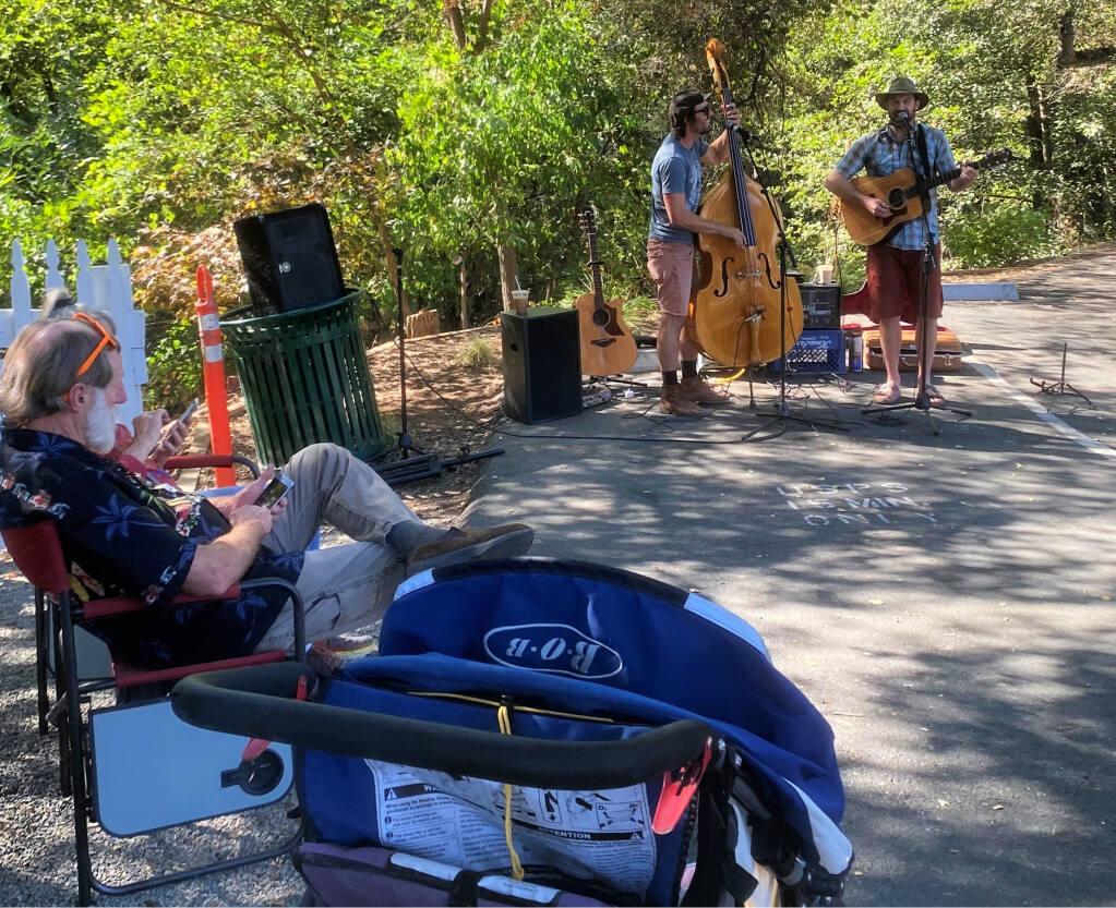 Local boy T Luke played with a local buddy, Beau Bradbury, of the California Honey Drops.