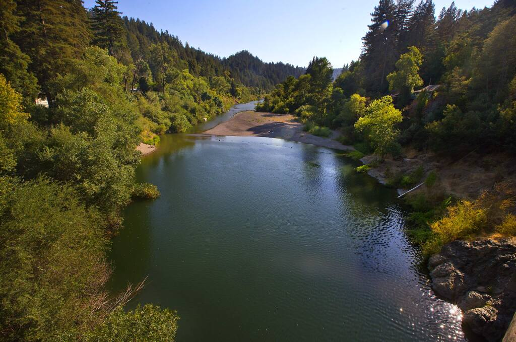The Russian River from the Hacienda Bridge. (JOHN BURGESS/The Press Democrat)