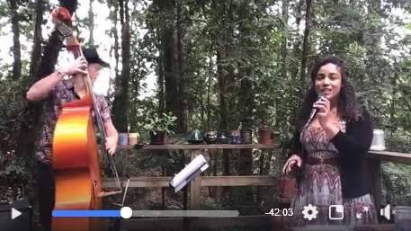 MAKING MUSIC IN THE TIME OF CORONA: Skyler Stover and Stella Heath perform live on Facebook.