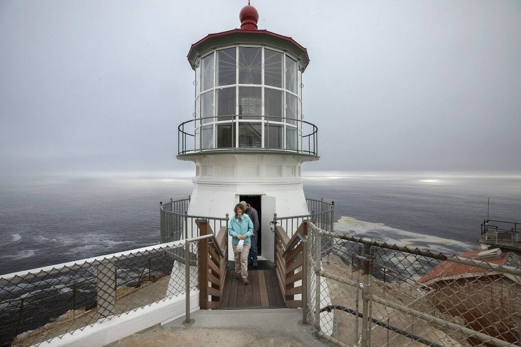 The Point Reyes Lighthouse opened last week after a 15-month restoration, the first major project since it was constructed in 1870. (John Burgess/The Press Democrat)