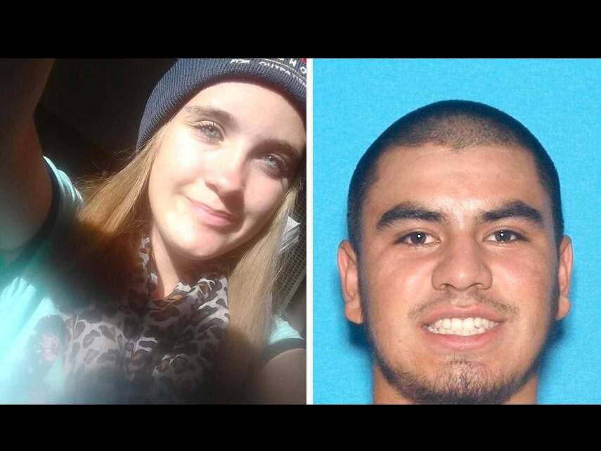 Pearl Pinson (left) was last seen in the Vallejo area on Wednesday, May 25 as she was dragged by Fernando Castro (right), an armed man.