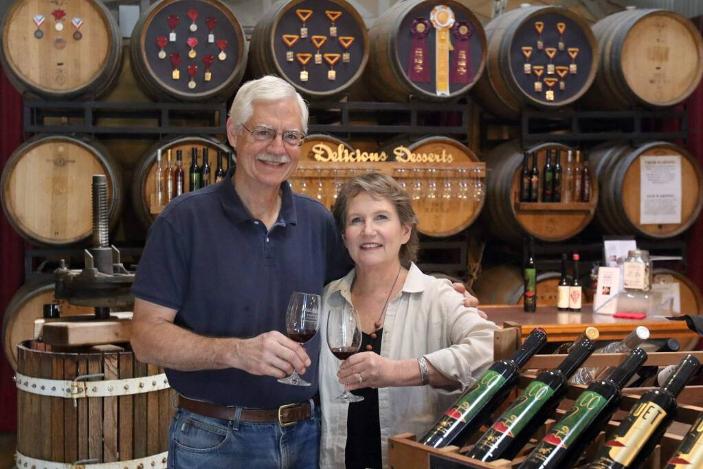 Bill and Caryn Reading helped popularize port in Petaluma with Sonoma Portworks in the Foundry. (SCOTT MANCHESTER/ARGUS-COURIER STAFF)