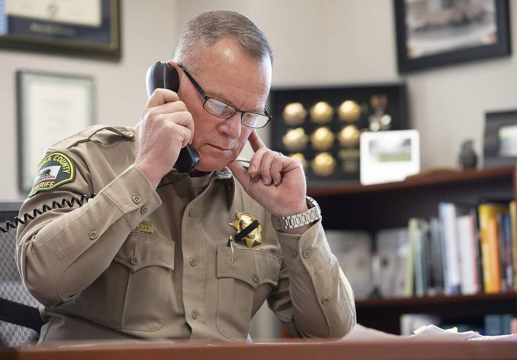 Sonoma County Sheriff Mark Essick (photo by John Burgess/The Press Democrat)