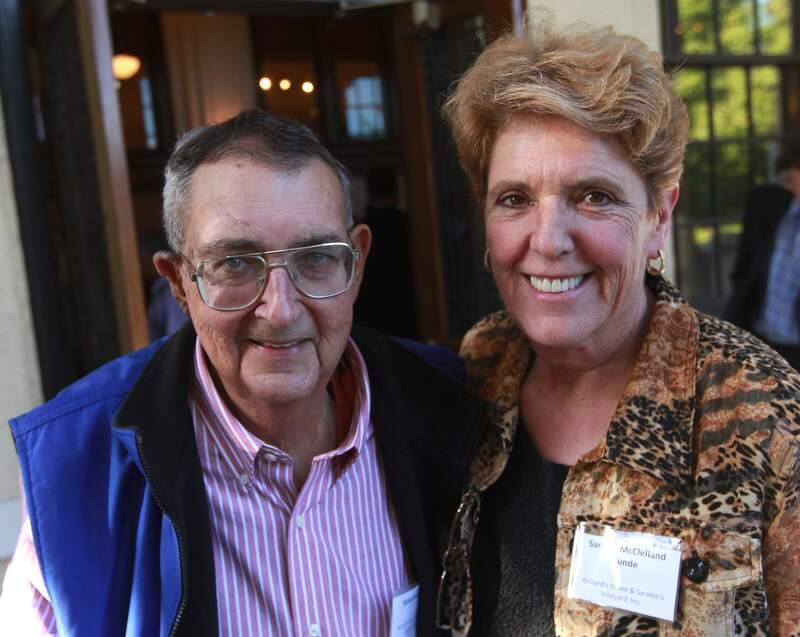 Richard and Saralee Kunde attend the Sonoma County Business Hall of Fame induction ceremony, sponsored by the Sonoma County Economic Development Board, Thursday Sept. 15, 2011 at the Sonoma County Museum in Santa Rosa. (Kent Porter / Press Democrat) 2011 Santa Rosa Magazine