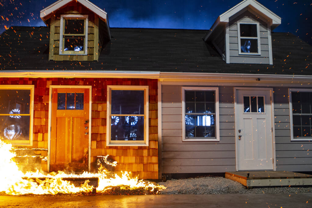 Fire resistant building materials may make much difference in whether a structure remains or not. (courtesy of Insurance Institute for Business & Home Safety)