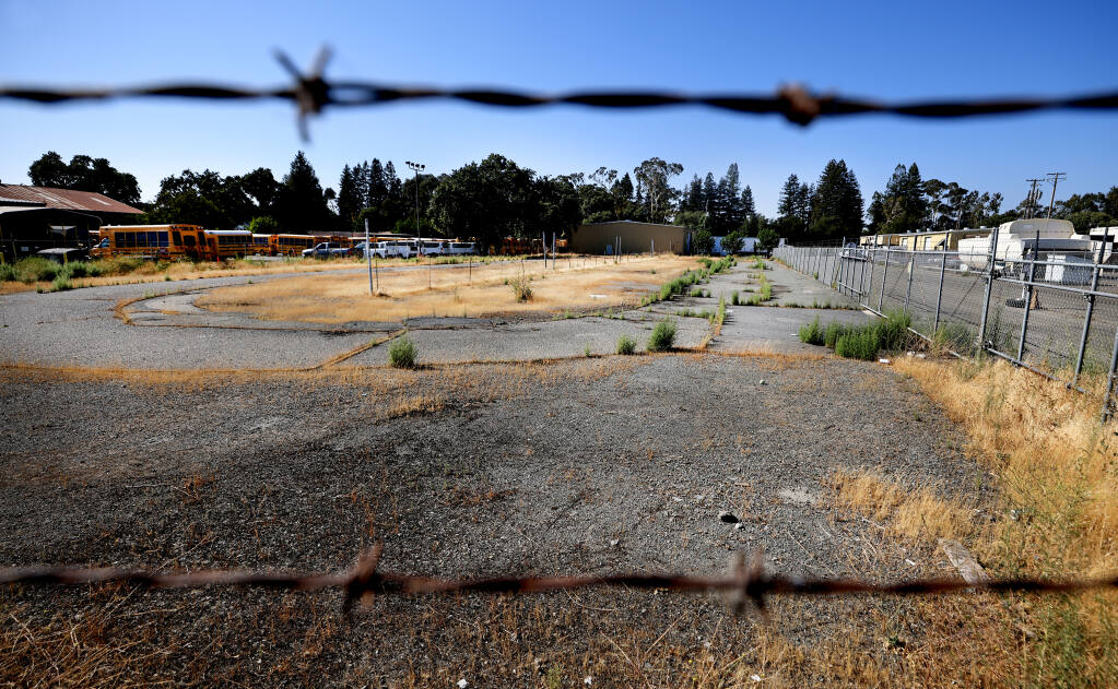 The proposed site of a new Boys and Girls Club of Sonoma-Marin in Roseland, Wednesday, July 14, 2021.  (Kent Porter / Press Democrat) 2021
