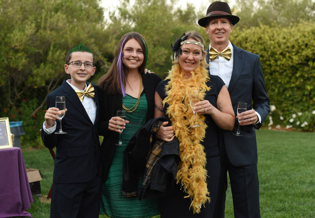 The Bearden family from left, Ike, 11, Eva, 14, Rachel and Chris during Party for the Green-New Orleans Style; an annual fundraiser for the Green Music Center in Rohnert Park, Calif., on Saturday, September 25, 2021. (Photo: Erik Castro/for The Press Democrat)