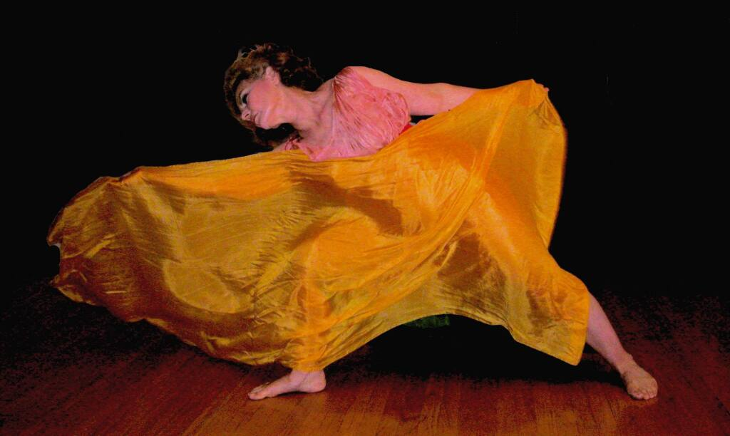 Lois Flood will perform the dances Isadora Duncan at 7 p.m. Wednesday, July 15, at the Sonoma Community Center.