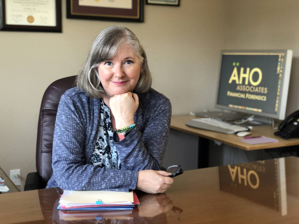Lorraine Aho, partner, Aho Financial Forensics, Sonoma, is a North Bay Business Journal 2021 Women in Business Award winner.