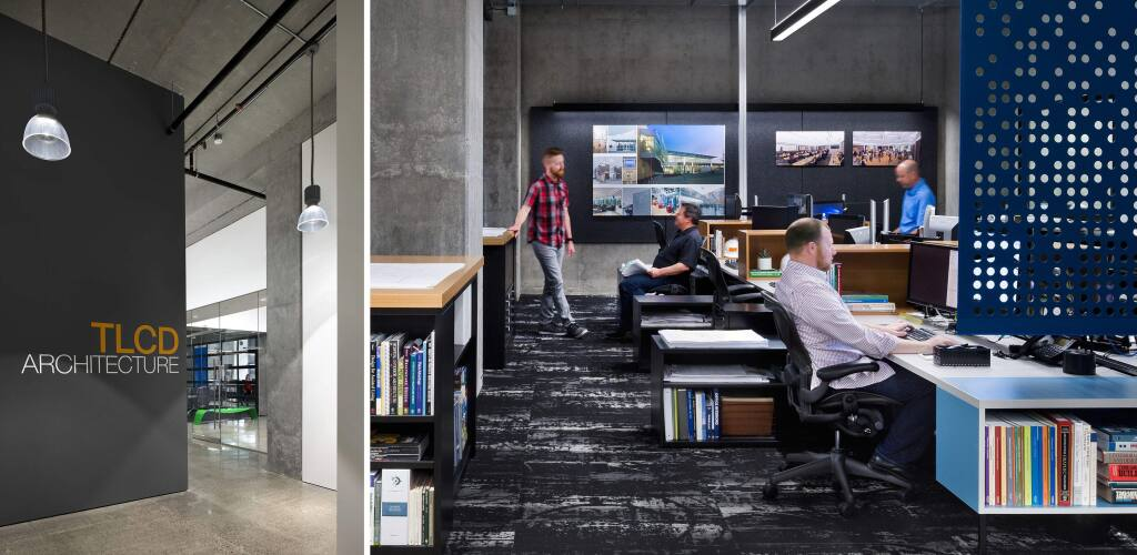 TLCD Architecture identified the former AT&T building on Old Courthouse Square in Santa Rosa as an ideal renovation opportunity, finished in March 2016. (courtesy of TLCD Architecture)