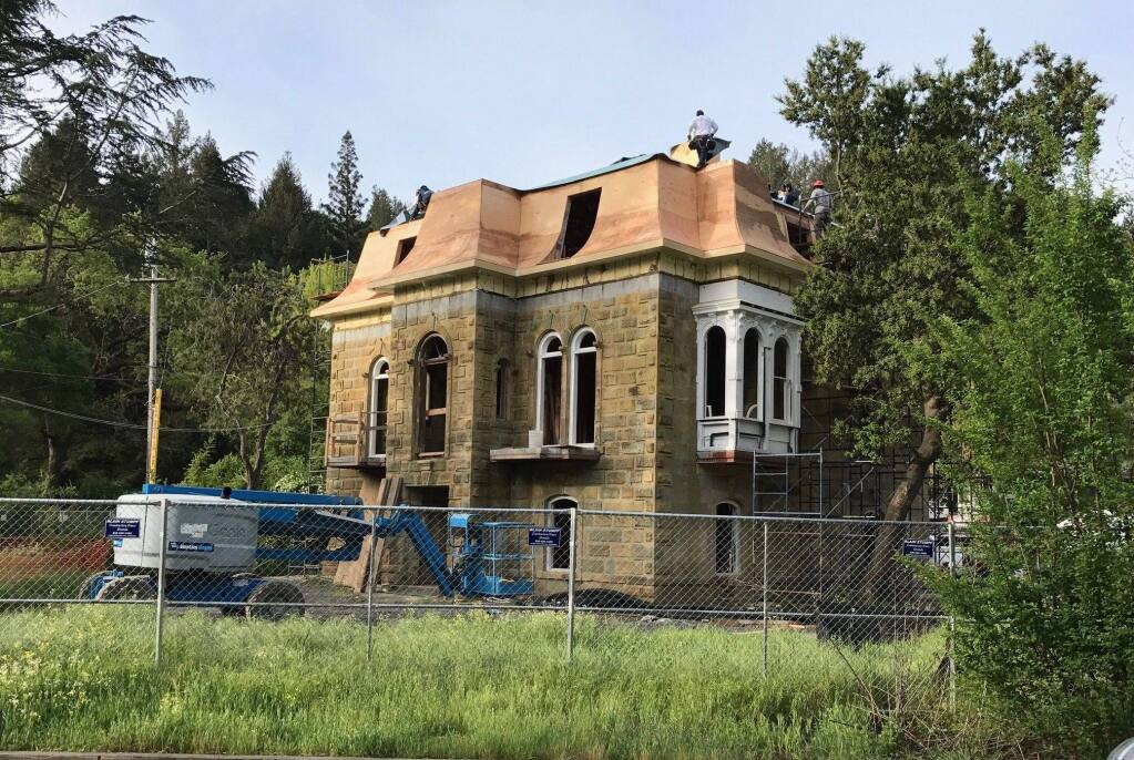 The historic Francis House in Calistoga is slated to open as a boutique inn in 2018. It is seen here during renovations. (COURTESY OF THE FRANCIS HOUSE)