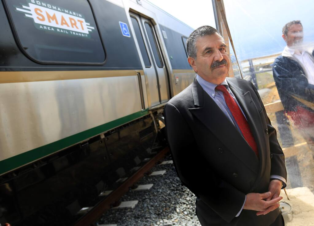 SMART General Manager. Farhad Mansourian, Tuesday April 7, 2015 at the unveiling of the new commuter train cars in Cotati. ( Kent Porter / Press Democrat) 2015