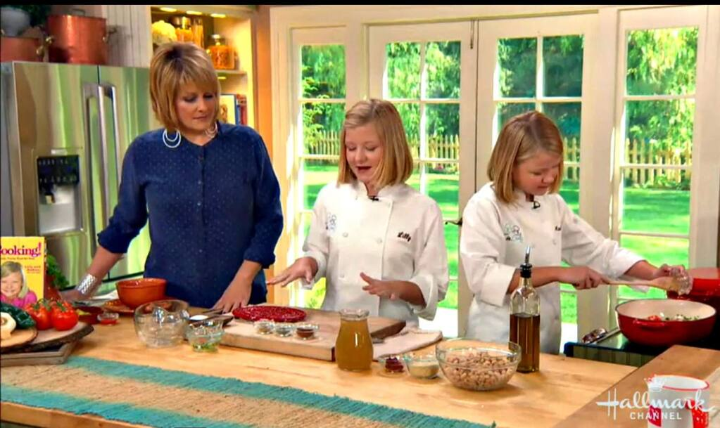The Andrews sister make frequent cooking show appearances including a segment on theHallmark channel last month.