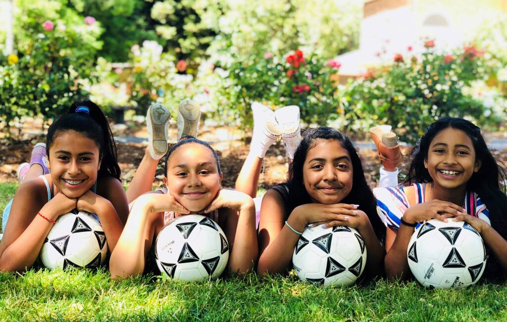 Donations made soccer league participation possible for Elizabeth Ornelas Sanchez, Jasmin Rivas Castillo, Sherlyn Morales Martinez and Angeline Nicol Prudente Salinas.