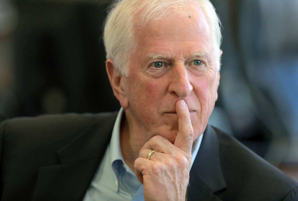Rep. Mike Thompson spoke to the Press Democrat editorial board on Friday, May 4, 2018. (photo by John Burgess/The Press Democrat)