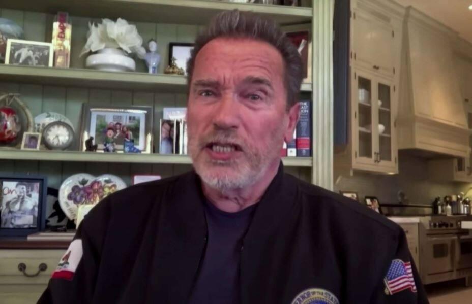"Arnold Schwarzenegger on ""Jimmy Kimmel Live."" (Jimmy Kimmel Live"" / YouTube)"