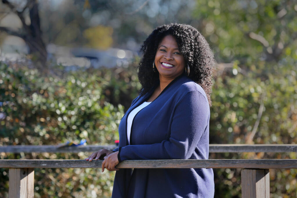 Marsha Lucien, the new executive director of the Family Justice Center of Sonoma County, in Santa Rosa on Tuesday, Dec. 8, 2020. (Beth Schlanker / The Press Democrat)