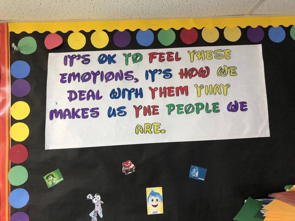 The brightly colored Zone Board at a Boys & Girls Clubs of Sonoma-Marin reminds local kids that it's OK (maybe even normal!) to feel emotions. Photo provided.