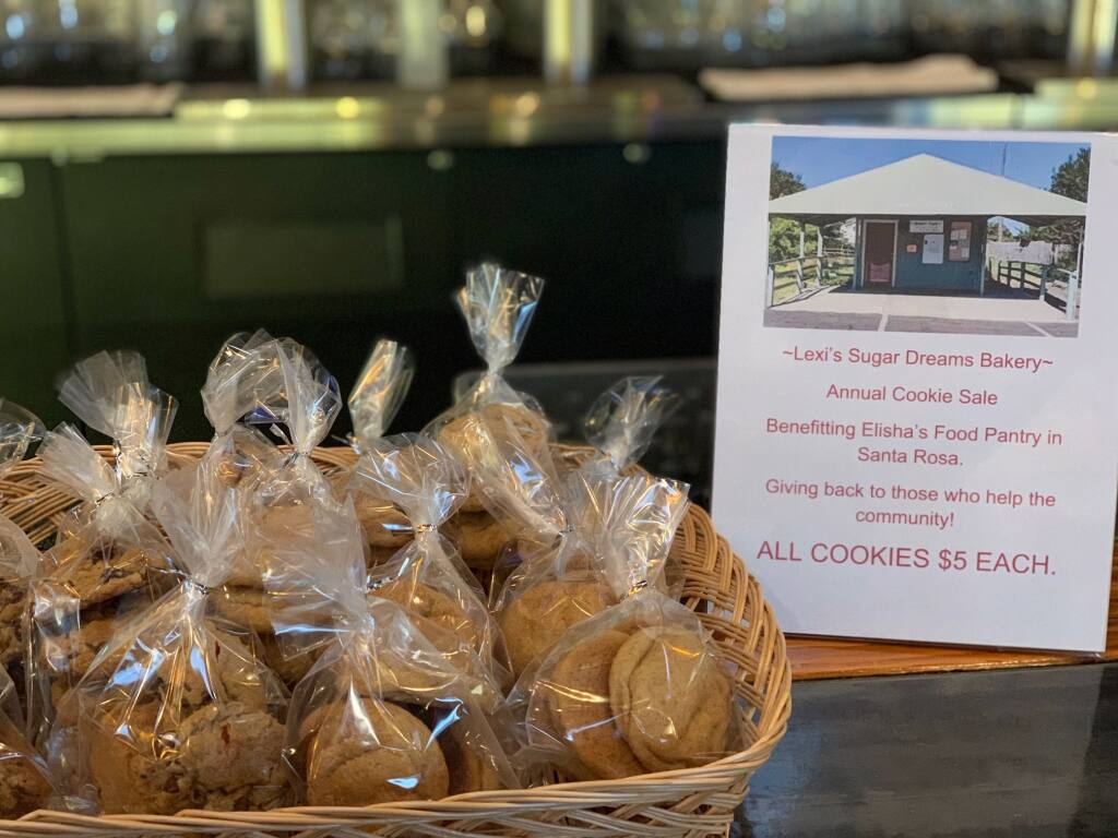 A display of the cookies Lexi Lawson and her mom baked and packaged to raise money for Elisha's Pantry. (Lawson family)