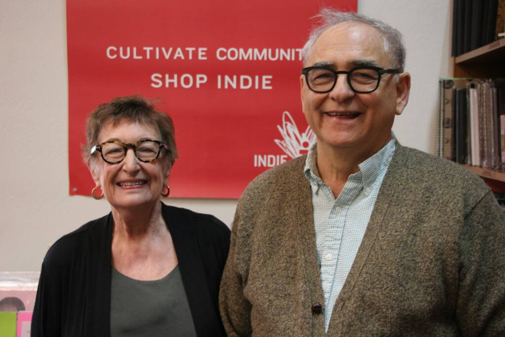 Lilla and Andy Weinberger helped sponsor former National Intelligence Director James Clapper's May 24 visit to Sonoma, through their 26-year-old Readers' Books on East Napa Street. (Christsian Kallen/Index-Tribune)