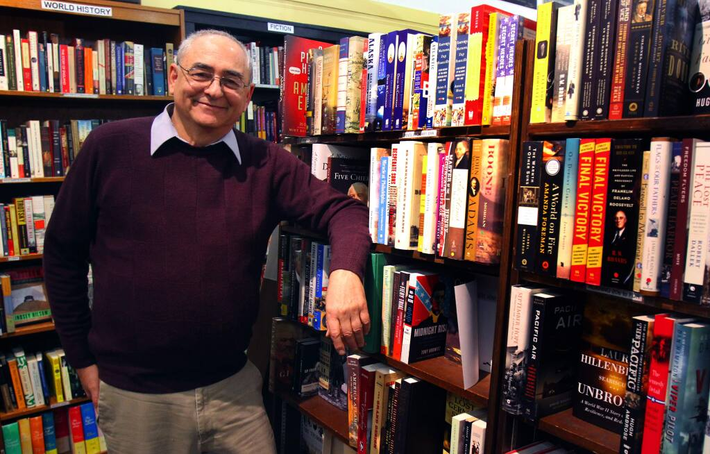 Andy Weinberger at his Readers' Books in Sonoma. (Jeff Kan Lee/ The Press Democrat)