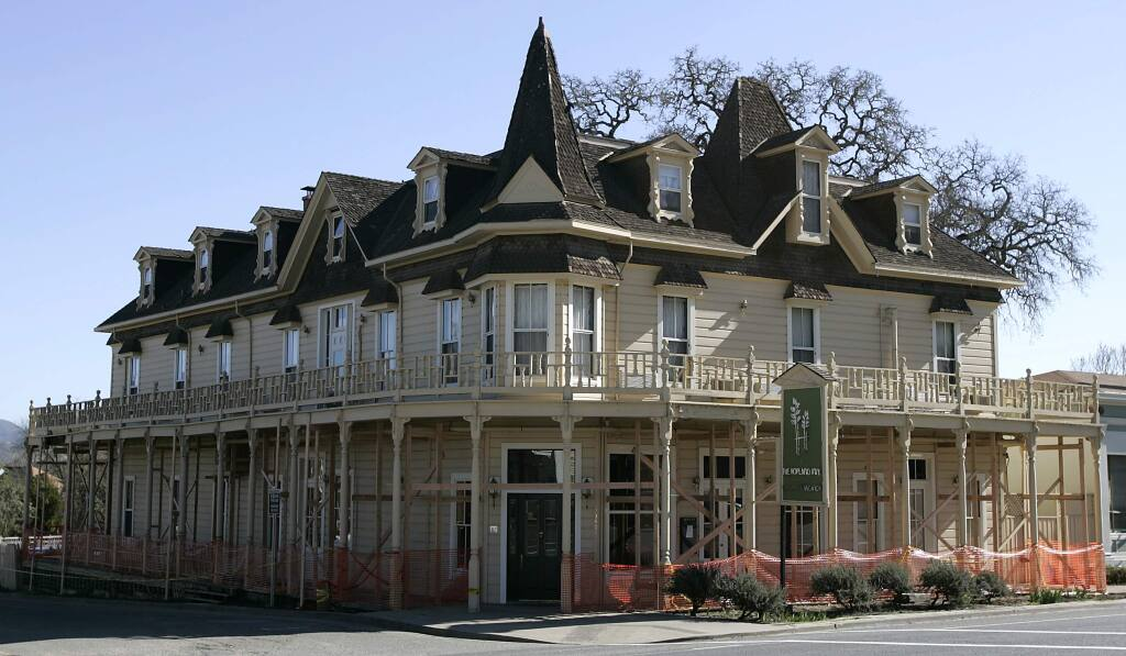 The Hopland Inn while undergoing renovations in February 2006.(The Press Democrat/ Christopher Chung)