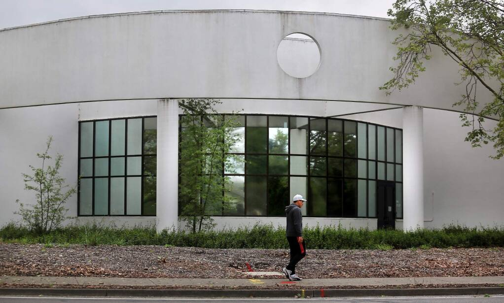 One of several sites that Sonoma County is looking to put homes on is the old Sonoma County Water Agency on College Avenue in Santa Rosa. (KENT PORTER/ PD FILE, 2017)