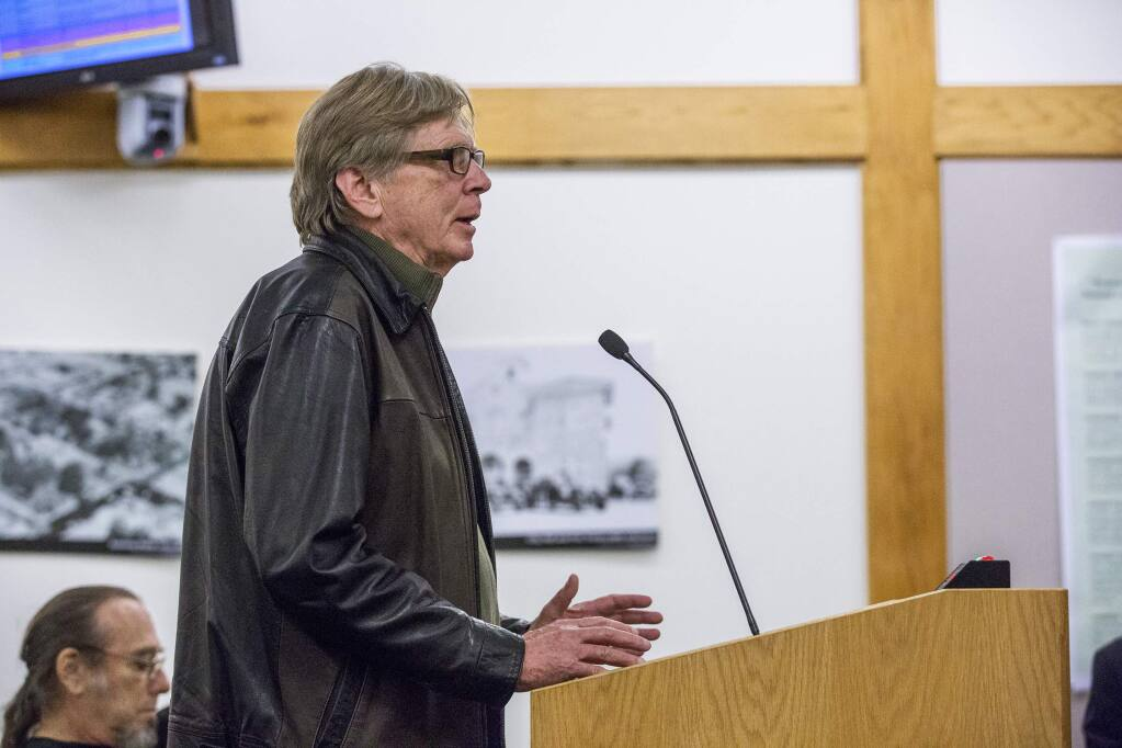 John Early at the City Council Meeting on Monday, Dec. 4. (Photo by Robbi Pengelly/Index-Tribune)