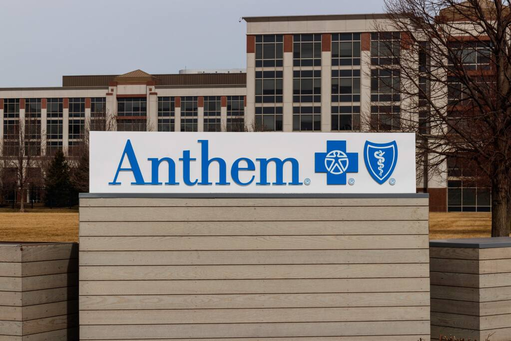 Anthem Blue Cross' headquarters in Indianapolis in March 2019 (Jonathan Weiss / Shutterstock)