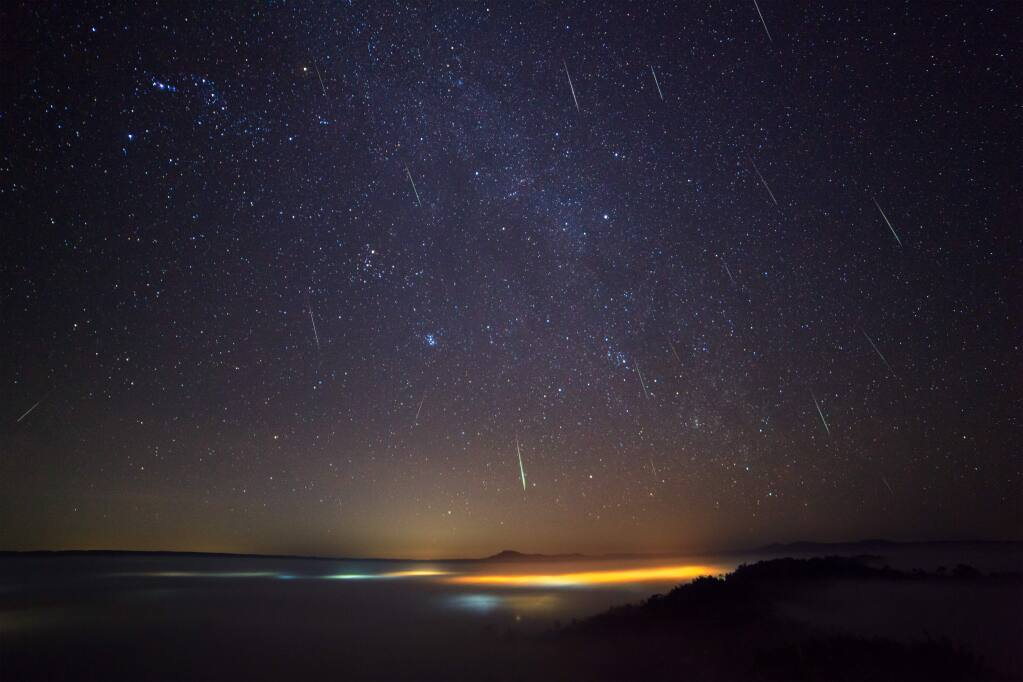 The Geminid meteor shower will be larger and peak earlier than the Perseid meteor shower in August, according to AccuWeather.