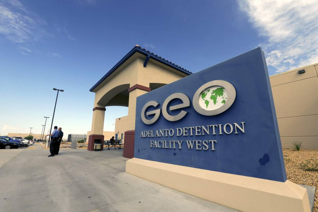 Adelanto Detention Facility where there have long been accusations by detainees of medical neglect, poor treatment by guards, lack of response to complaints and other problems.(Irfan Khan / Los Angeles Times/TNS)
