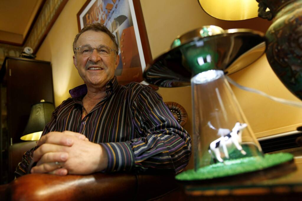 Ufologist Jim Ledwith at his home in Sonoma. File photo. (BETH SCHLANKER/ The Press Democrat)