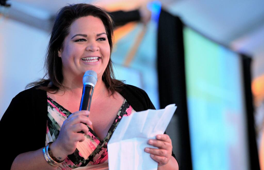 Becoming Independent CEO, Luana Vaetoe makes opening remarks at the Becoming independent Annual Gala on June 9th, 2018 at Becoming Independent facilities in Santa Rosa, California. (Photo Will Bucquoy / For the Press Democrat).