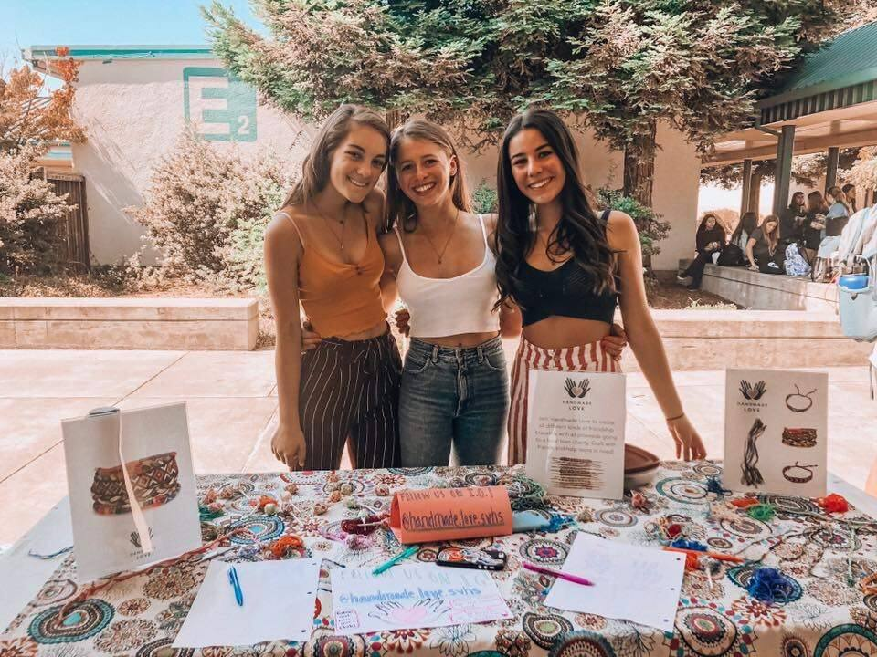 The student founders of the new Handmade Club at SVHS, sophomores Meg Jernigan, Camryn Berger and Ruby Eilert.