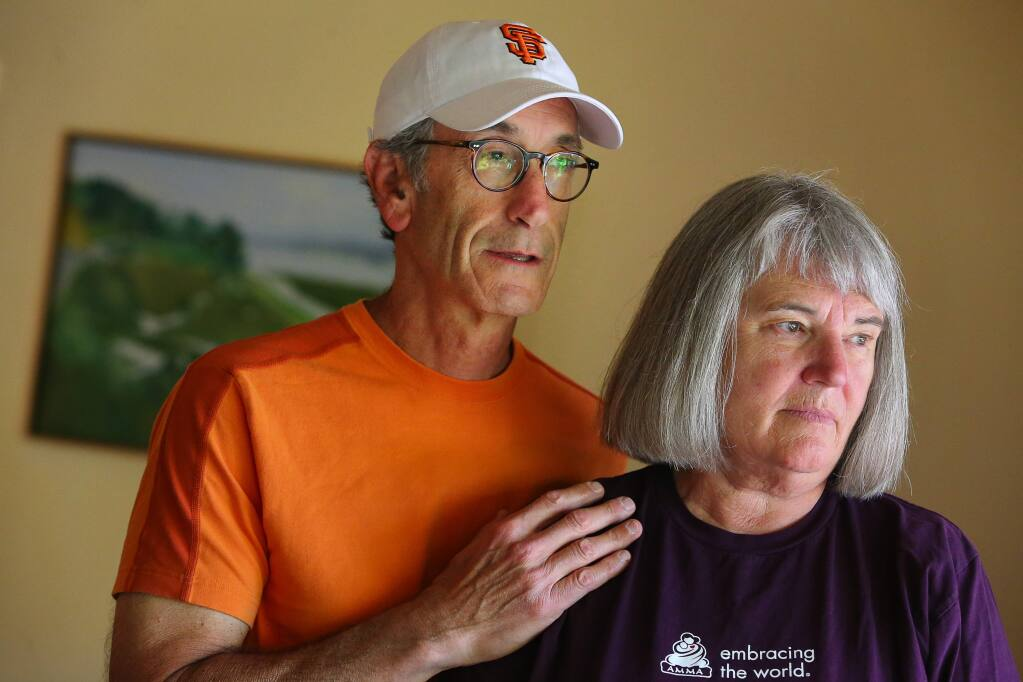 Barbara and Denny Bozman-Moss would like to see more treatment options for those with mental illness. Their son is currently in the Sonoma County Main Adult Detention Facility awaiting transfer to Napa State Hospital. (Christopher Chung/ The Press Democrat)