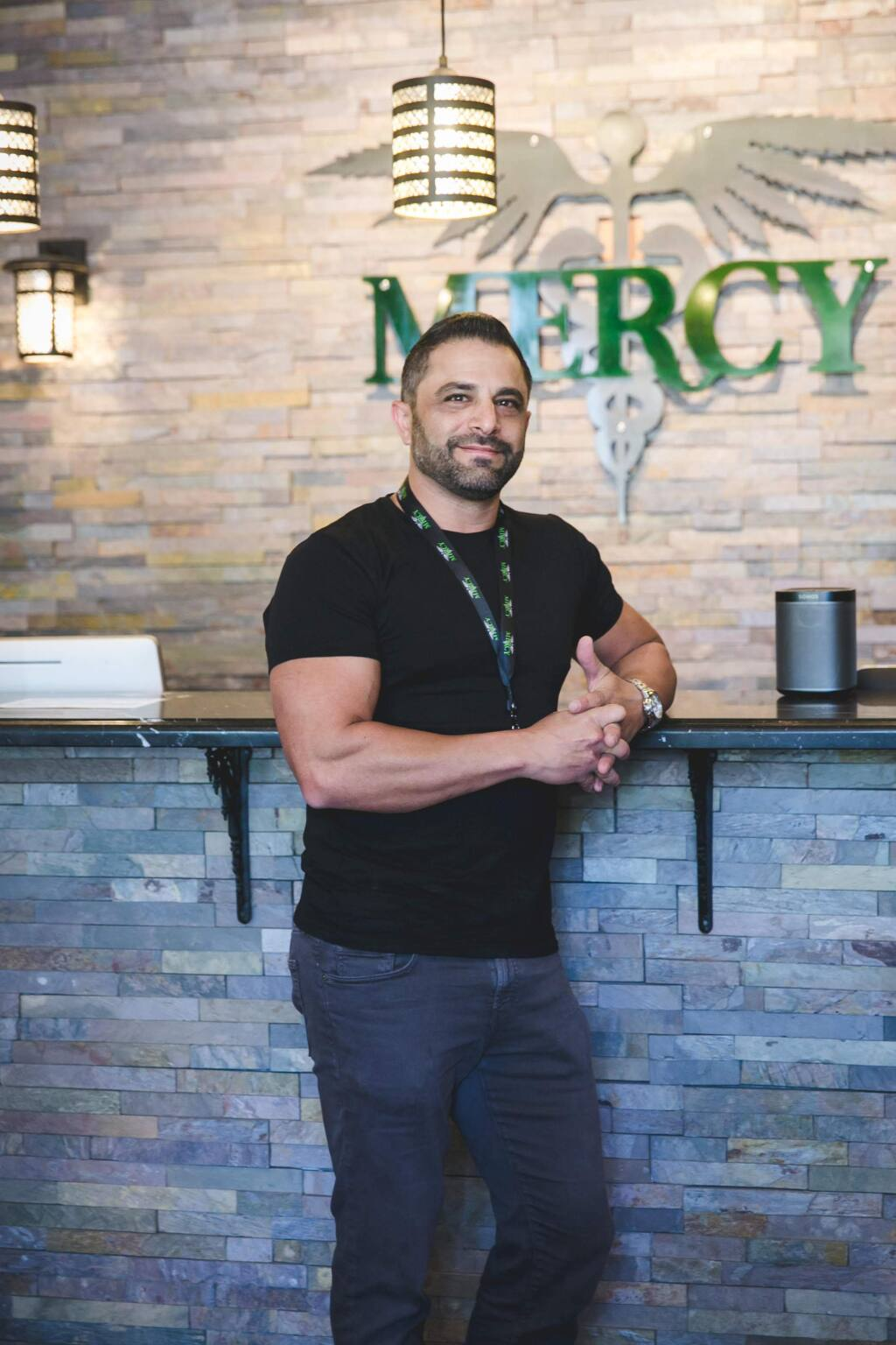 Brandon Levine, founder of Mercy Wellness Center and Doobie Nights in Cotati (MICHELLE FEILEACAN PHOTOGRAPHY)