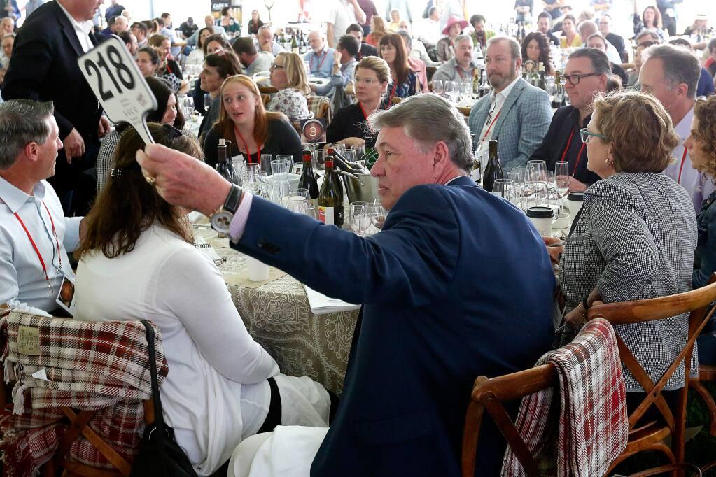 Sonoma County Barrel Auction at MacMurray Ranch in Healdsburg, California, on Friday, April 20, 2018. (Alvin Jornada / The Press Democrat)