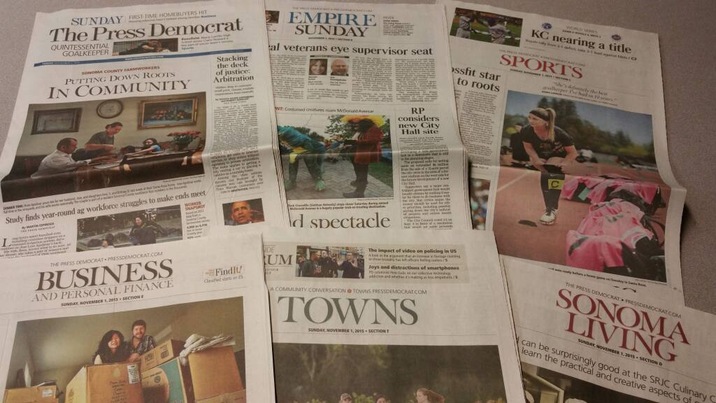 The Press Democrat will have a new look starting Wednesday.