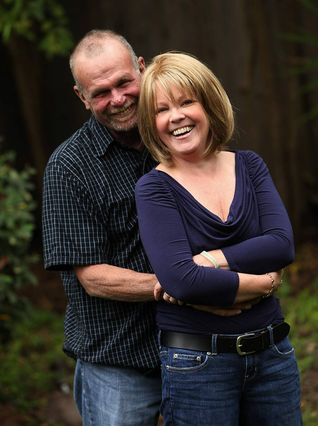 Don Stranathan met Penny Blume in a lung cancer support community. Since her passing in January 2014, Stranathan had become an advocate for lung cancer research. JOHN BURGESS the press democrat, 2012