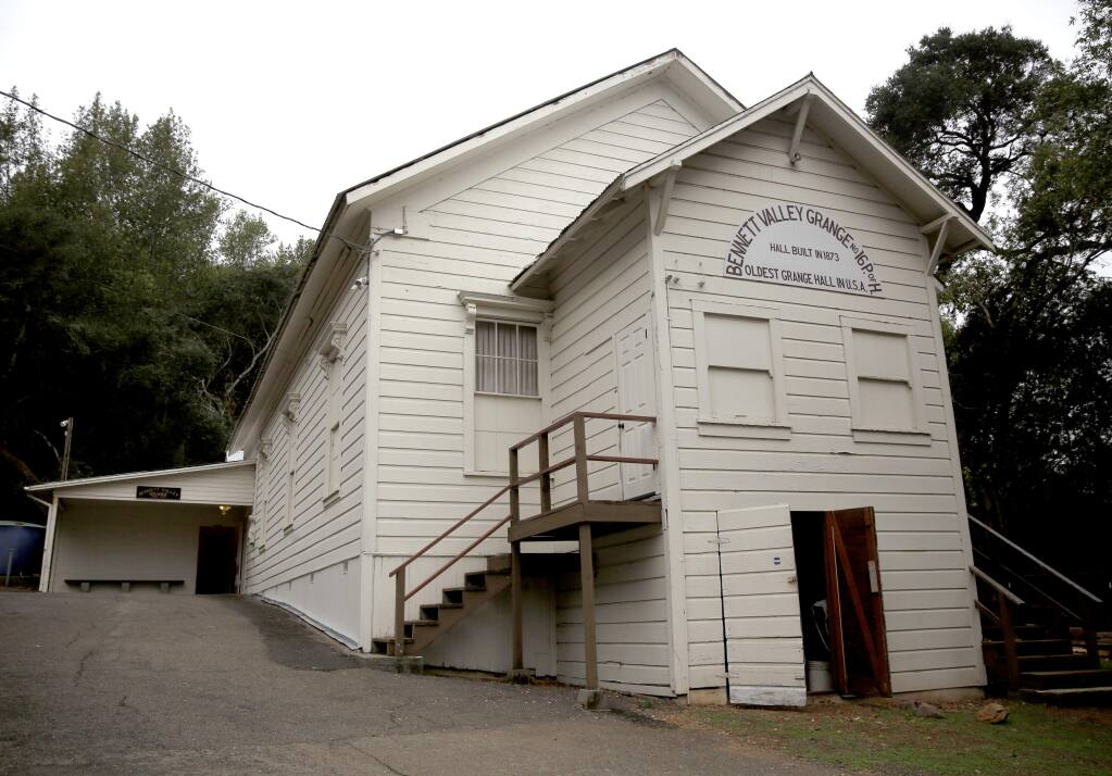 The Bennett Valley Grange in Santa Rosa on Tuesday, Nov.11, 2014. (BETH SCHLANKER/ PD)